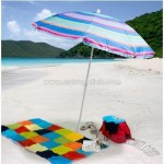 Stripe Sun Blocking Beach Umbrella
