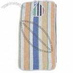 Stripe Terry Cloth Adult Bib