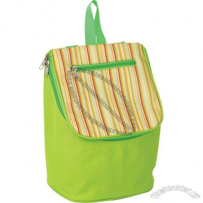 Striped Cooler Bag with Handle