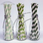 Striped Paper Drinking Straws