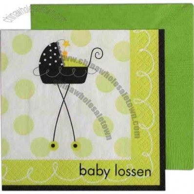 Stroller Fun - 3-Ply Beverage Napkin With Pattern
