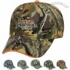 Structured cotton twill pro style camouflage cap with sandwich visor
