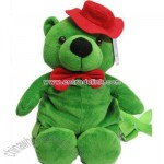 Stuffed Backpack Green Bear