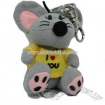 Stuffed Mouse With Keychain
