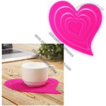 Stylish Detachable Heart Shape Table Placemats Silicone Coaster