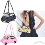 Stylish Women's Shoulder Bag With Car Pattern and Double Handle Design