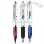 Stylish design Click action solid brass ballpoint with marble grip
