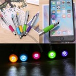 Stylus Ball Pen with LED Light