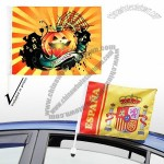 Sublimation Medium Custom Car Flags CMYK on Full Surface with 17-inch Stick