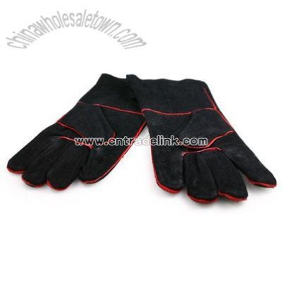 Suede Gloves Black Pair