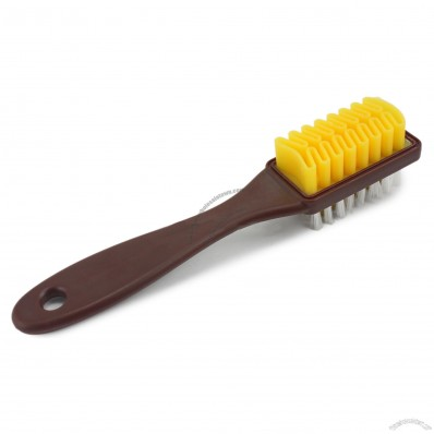 Suede and Nylon Brass Wire Shoe Brush