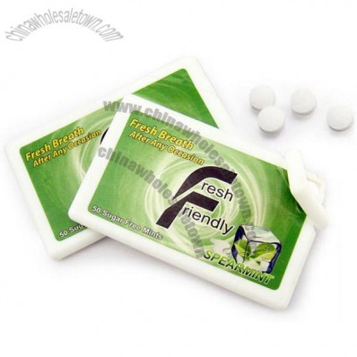 Sugar Free Mints in Plastic Card Case