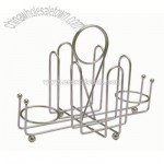 Sugar packet / shaker rack chrome plated steel