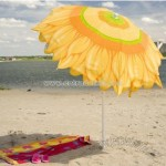 Sunflower Designer Beach Umbrella