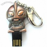 Super Cool Ottoman Metal USB Flash Drive Keychain