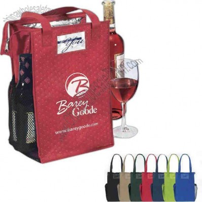 Super Snack Insulated Lunch/wine Tote With Zipper Closure