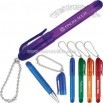 Super translucent 2-piece mini plastic pen with bead chain