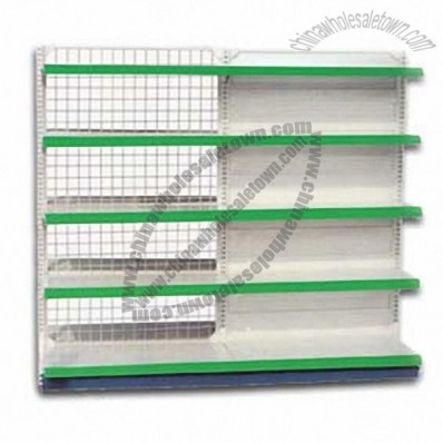 Supermarket Shelf, 3x6 Quare Pipe Small Shelf With Back Wire