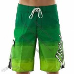 Surf Shorts in Green, Comfortable to Touch, Quick-drying, Nice Texture