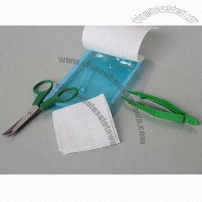 Suture Removal Kit, Includes Forceps, Scissors and Gauze