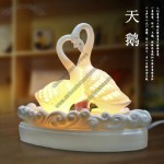 Swan Ceramic Aromatherapy Plug Fragrance Lamp Table Lamp To Send Essential Oils