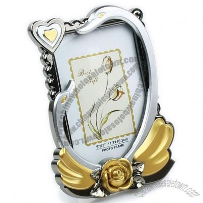 Swan Photo Frame 7-inch Plating
