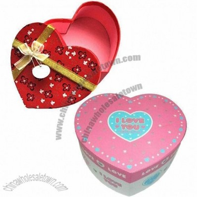 Sweet Love Candy Cardboard Gift Box With Bow Knot