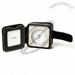 Swing Design Chelsea Black Bonded Leather Travel Clock