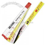 Synthetic 5' two tone yellow and white tape measure with household safety tips