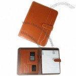 Synthetic Leather Organizer with Pen Loop, Calculator, Organ Pouch and Memo Pad