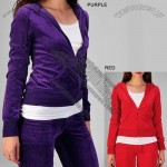 Tabeez Women's Plus Size Velour Hooded Tracksuit