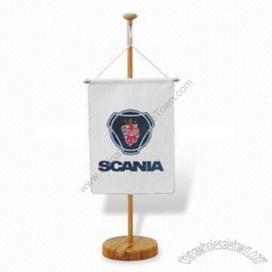 Table Banner with Wooden Pole