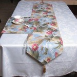 Table Cloth, Made of 100% Polyester with transfer printing Design