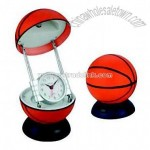 Table Lamp with Clock (Basketball Shape)