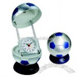 Table Lamp with Clock (Football Shape)
