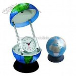Table Lamp with Clock (Tellurion Shape)