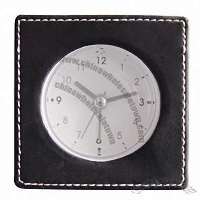 Table Leather Alarm Clock