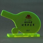 Table tennis ball acrylic award