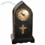 Tall Desk Clock with Cross