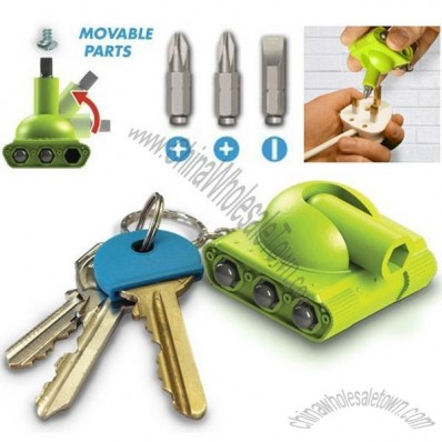Tank Multi-tool Screwdriver Kit Key Ring