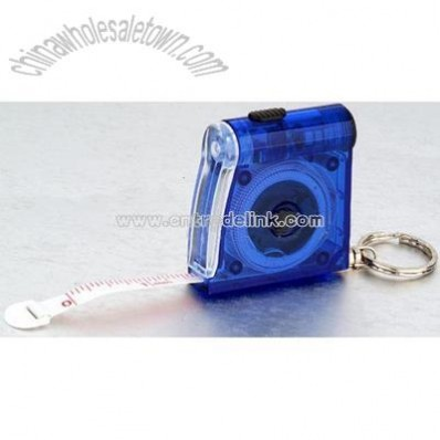 Tape Measure with LED Flishlight and Keychain