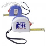 Tape measure with metal clip and wrist strap 10'