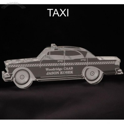 Taxi Cab Shaped Acrylic Award