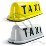 Taxi Cab Top Sign Light Magnetic Base - Yellow/White