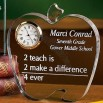 Teacher Acrylic Apple Clock