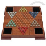 Teakwood Chinese checkers set