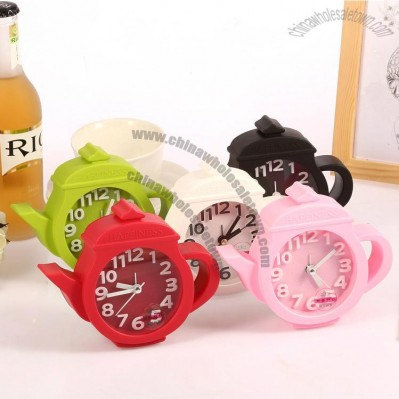 Teapot Cartoon Alarm Clock