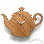 Teapot Shaped Bamboo Clock
