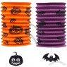 Telescopic Cylindrical Halloween Paper Lanterns