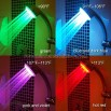 Temperature Control LED Colors Shower